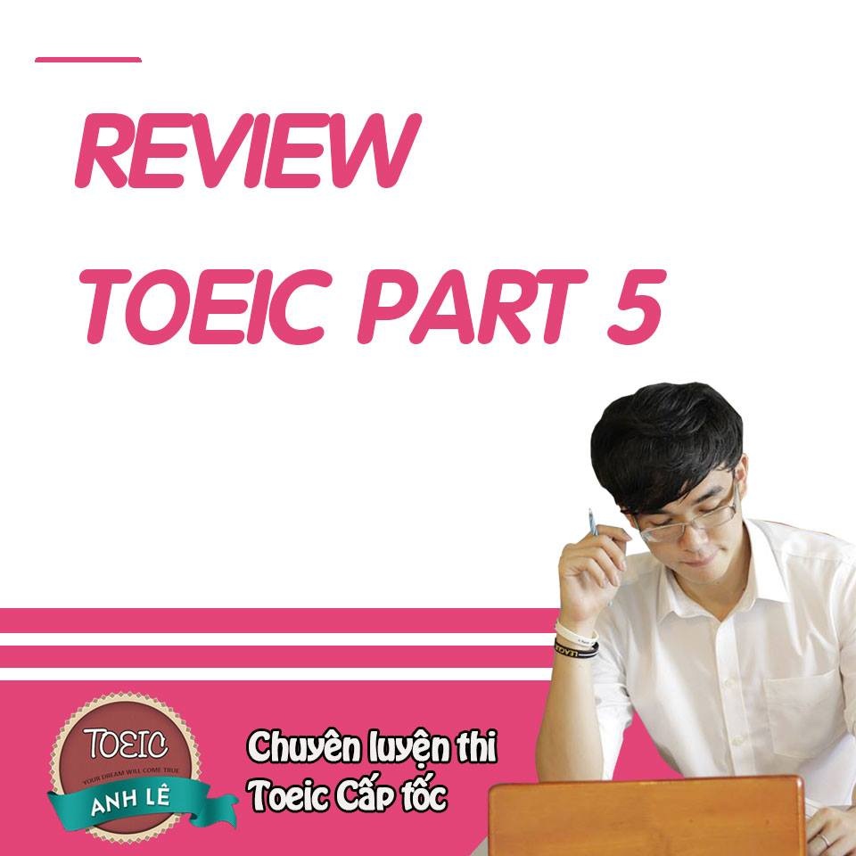review-toeic-part-5